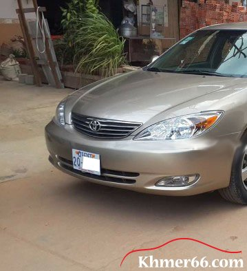 TOYOTA Camry XLE 2002 Gold color (ABS) PP: 2Q XXXX, Phnom Penh